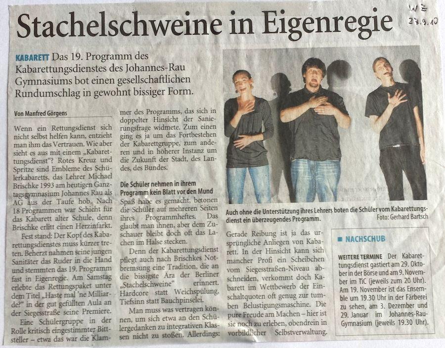 2010-09-27-WZ-Stachelschweine in Eigenregie