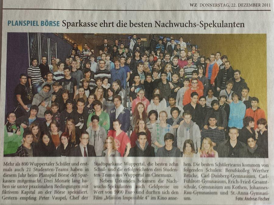 2011-12-22-WZ-SPK ehrt Nachwuchsspekulanten
