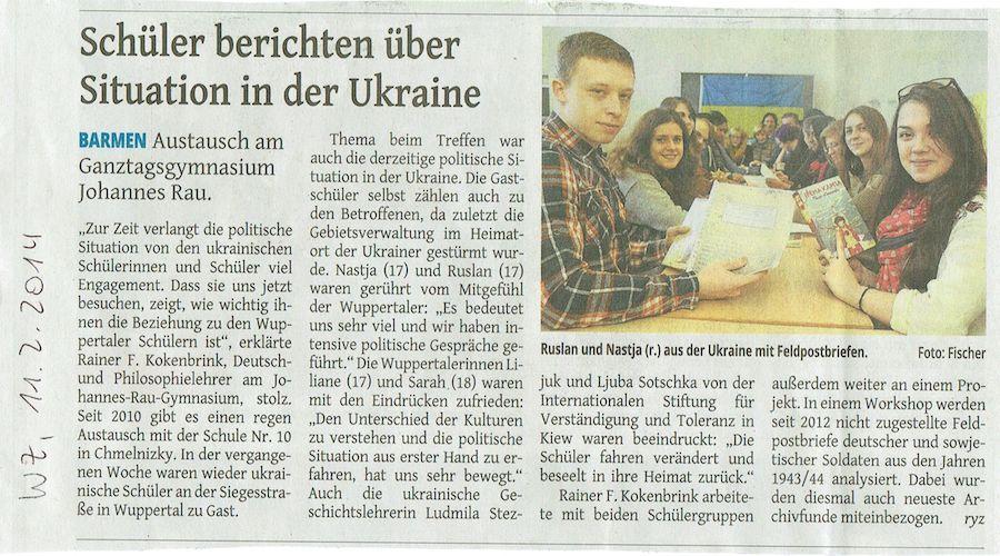 Schüler berichten über Situation in der Ukraine