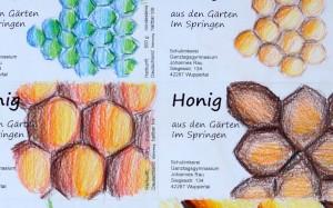 Honig-Etiketten Ausschnitt